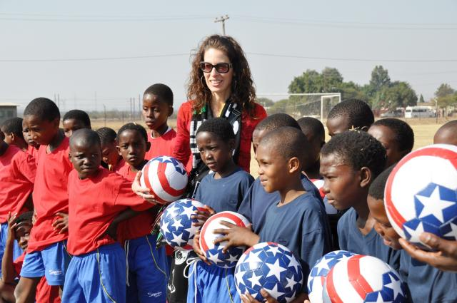 Bafokeng Kids with Americans