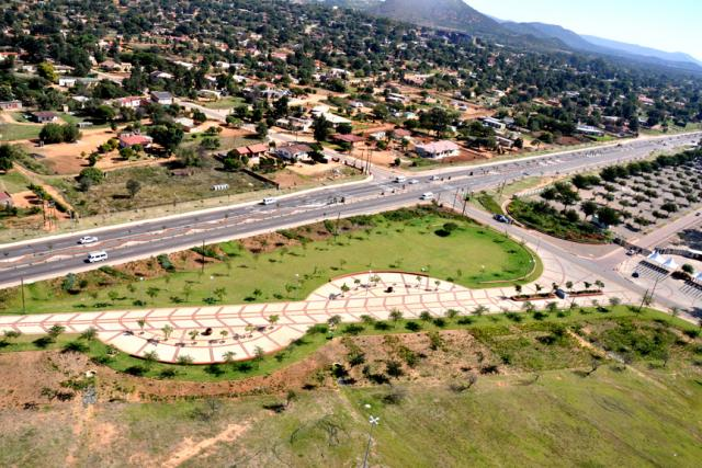 An aerial view of Phokeng