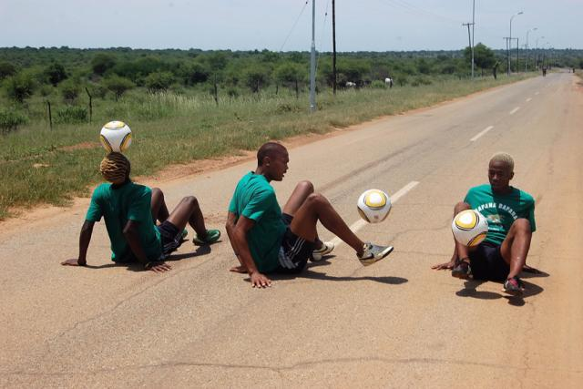 Ball tappers during The Bafokeng Carnival