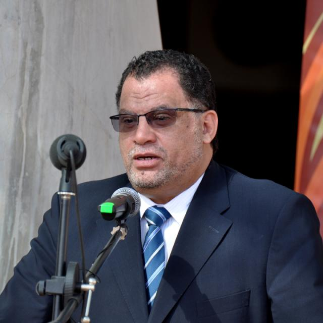Danny Jordaan at the Royal Bafokeng Stadium