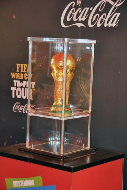 The World Cup trophy in Rustenburg