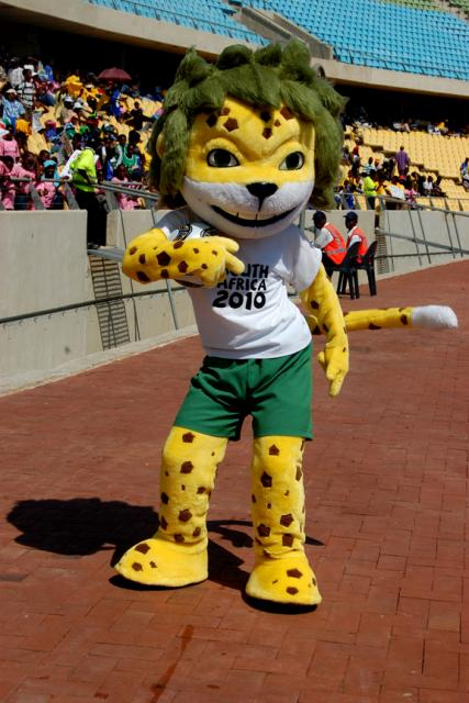 Zakumi at the Royal Bafokeng Stadium