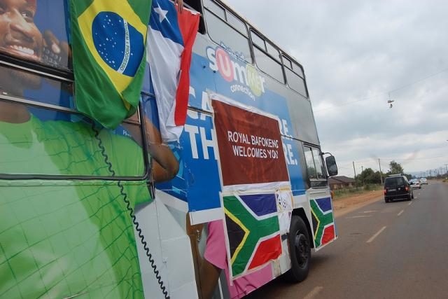 The bus during Bafokeng Carnival
